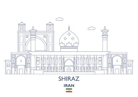 イラン ・ シラーズ線形都市スカイライン