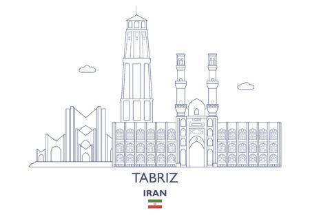 イラン ・ タブリーズ線形都市スカイライン