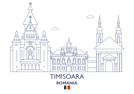 Timisoara Linear City Skyline, Romania