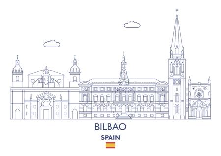 Bilbao Linear City Skyline, Spain