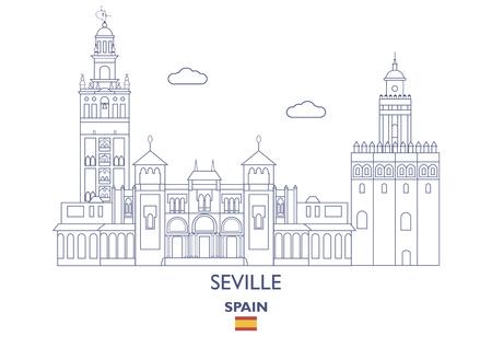 Seville Linear City Skyline, Spain