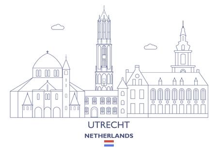 Utrecht Linear City Skyline, Netherlands