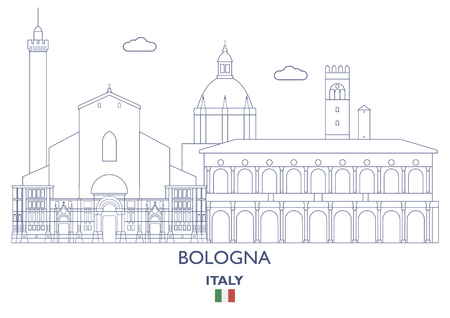 Bologna Linear City Skyline, Italy
