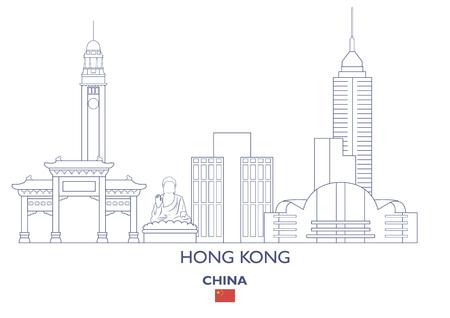 Hong Kong Linear City Skyline, China
