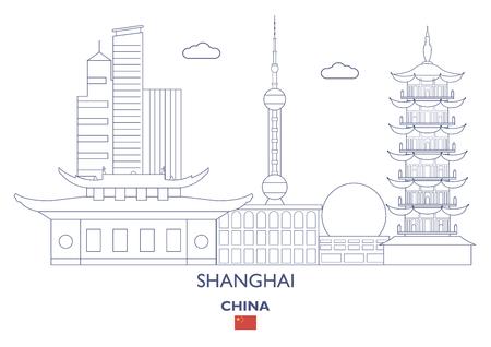Shanghai Linear City Skyline, China