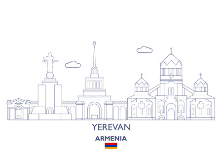 Yerevan Linear City Skyline, Armenia