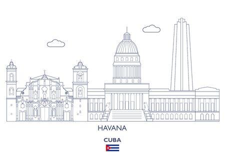 Havana Linear City Skyline, Cuba