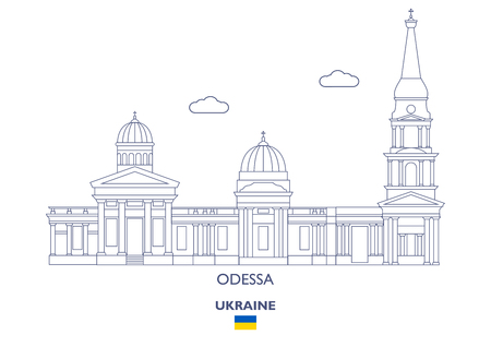 Odessa Linear City Skyline, Ukraine Фото со стока - 94898284