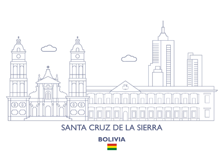 Santa Cruz De La Sierra Linear City Skyline, Bolivia