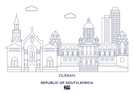 Durban Linear City Skyline, South Africa