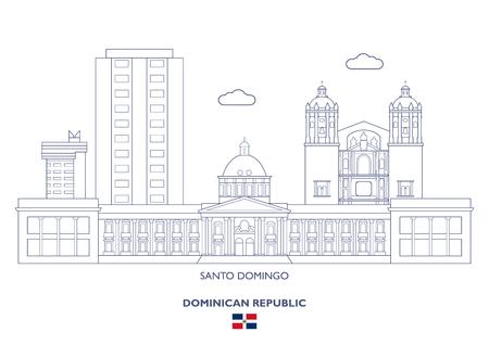 Santo Domingo Linear City Skyline, Dominican Republic