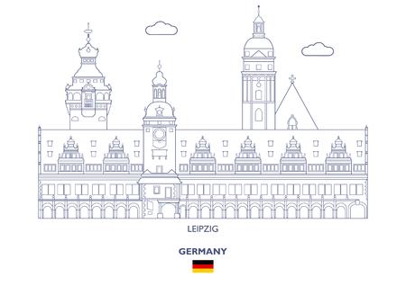 Leipzig Linear City Skyline, Germany Çizim