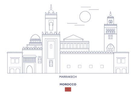 Marrakech Linear City Skyline, Morocco