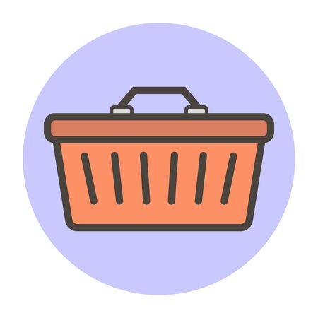 Shopping basket. Vector flat style for you design