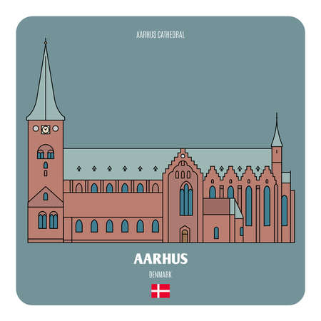 Aarhus Cathedral, Denmark. Architectural symbols of European cities. Architectural symbols of European cities.