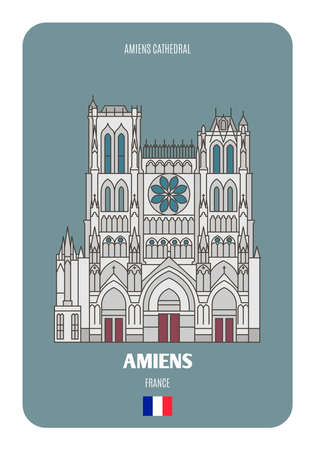 Amiens Cathedral in Amiens, France. Architectural symbols of European cities