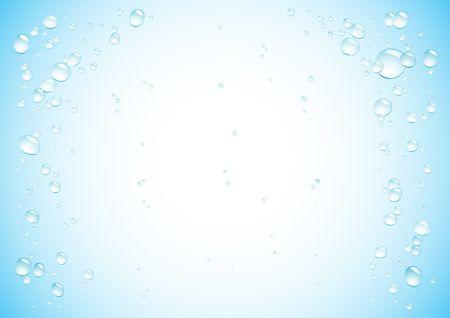 color drops: Simple drops blue background for design Illustration