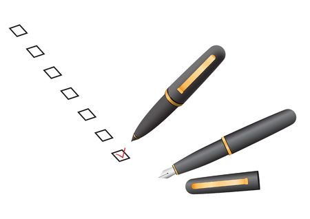 Choose your decisions in check box by a pen Stock Vector - 6584053