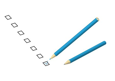 Choose your decisions in check box by a pencil Stock Vector - 6584049