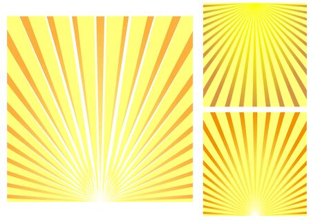 heatwave: Sun rays to modify your cover, box, background Illustration