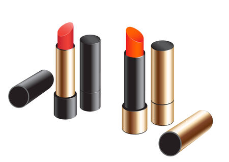 Female exclusive lipstick isolated on a white background Vector