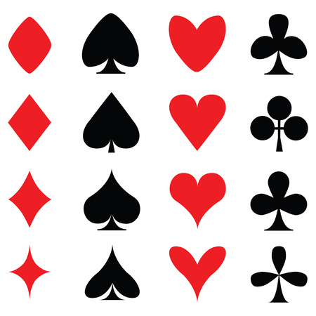 Colours for playing cards poker