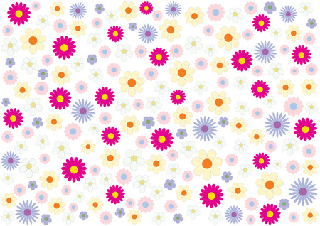 Beautiful summer flowers on a white background Vector