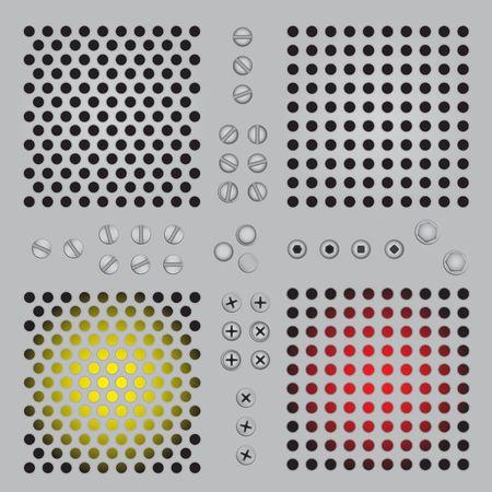 metal lattice: Metal protective lattice, bolts, screws.