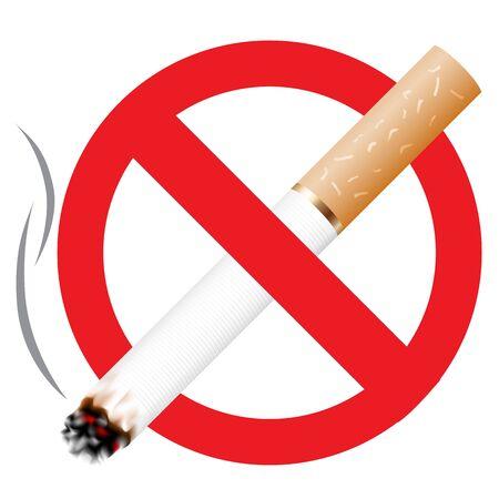 no fumar: Ning�n icono de fumar aislado en el fondo blanco  Vectores
