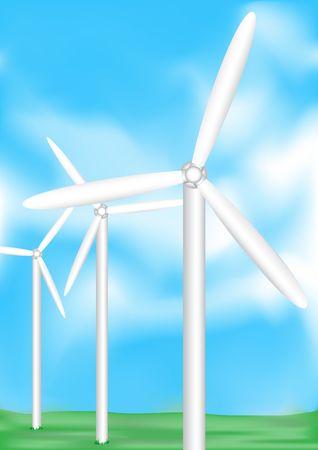 generate: The electric wind-turbine generate pure energy