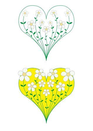Flowers melting in heart Stock Photo - 6744393