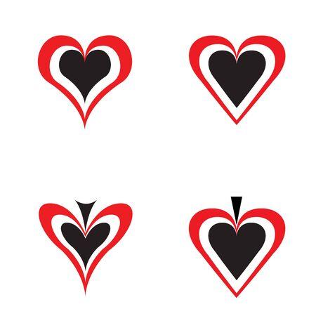 The symbols designate love to gambling Stock Vector - 6744427