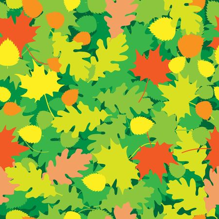 The oak and maple leaves texture Stock Vector - 6744483