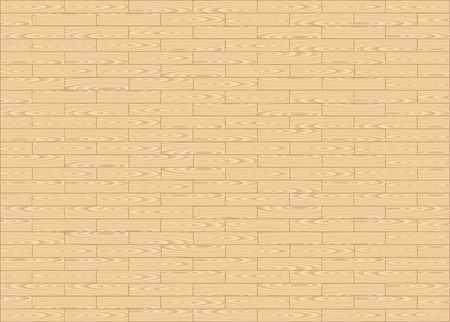 Wood floor parquets on the white background Illustration