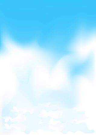 Beautiful simple meshes clouds on the blue sky