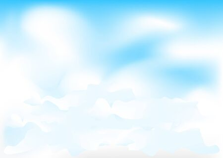 clouded sky: Beautiful simple meshes clouds on the blue sky