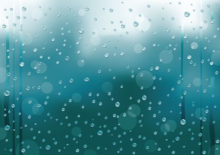 condensation on glass: Background with rain drops on the window Illustration