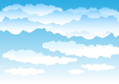 clouded sky: Beautiful simple clouds on the blue sky