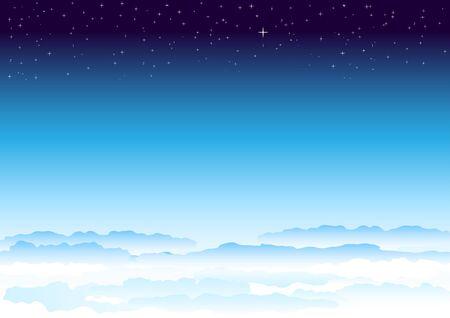passing: Cielo de estrellas. Atm�sfera celestial pasando suavemente en el espacio.  Vectores