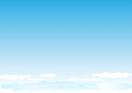 Beautiful simple clouds on the blue sky Stock Vector - 6744435