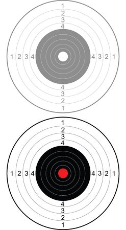 Target for shooting from a cold steel Stock Vector - 6744474
