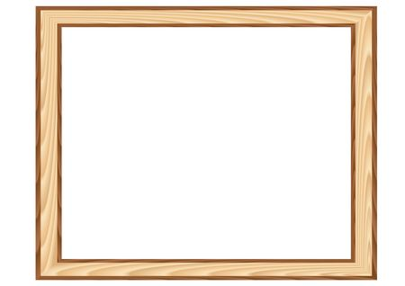 Wood framework isolated in the white background Vector