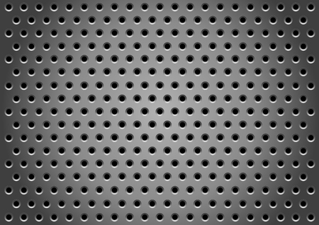 Abstract metallic holes background for design Vector