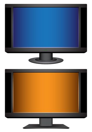 Modern tv isolated on the white background  Vector