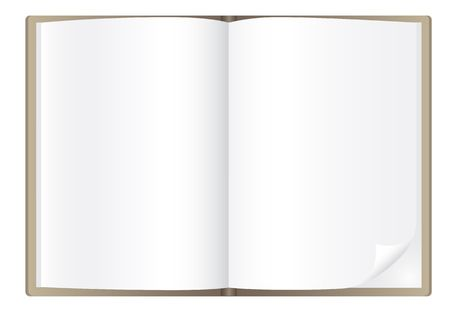 open diary: Simple book isolated on the white backgrou