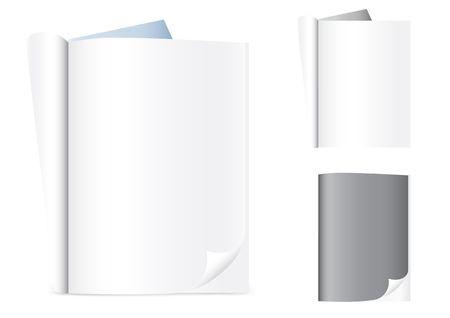 Empty magazines isolated on the white background Illustration