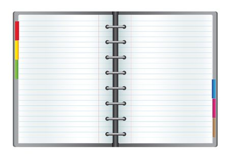 Business notebook isolated on the white background Vector