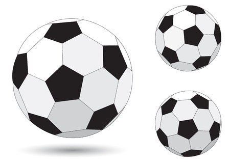 Soccer ball isolated on the white background  Stock Vector - 7157815