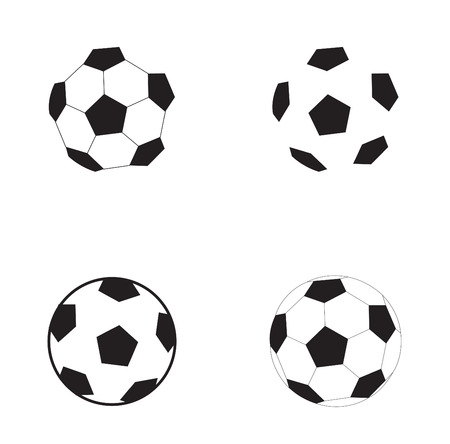 Football symbol soccer ball isolated on the white background  Stock Vector - 7157816