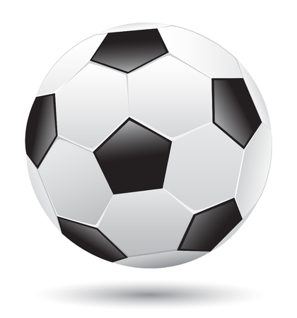 Different Classic soccer ball isolated on the white background Stock Vector - 7180005